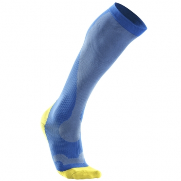 2XU Performance compression socks blue/yellow women WA2443e 2015