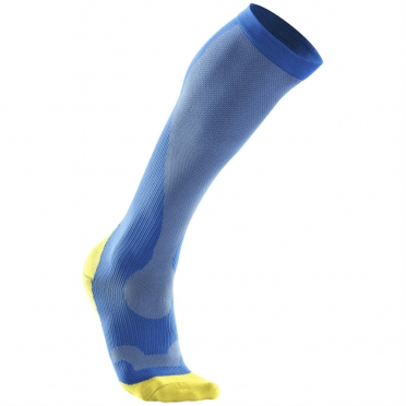 2XU Performance compression socks blue/yellow men MA2442e 2015