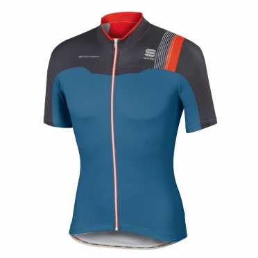 Sportful Bodyfit pro team jersey blue/black/red men