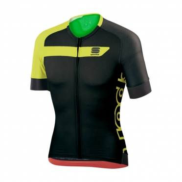 Sportful Veloce Cycling Jersey black/yellow men