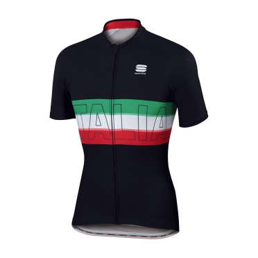 Sportful Italia IT cycling jersey black men