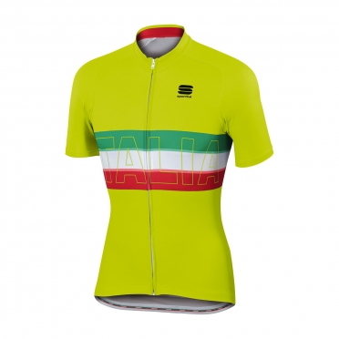 Sportful Italia IT cycling jersey yellow men