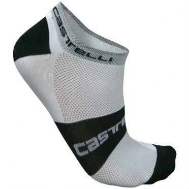 Castelli Lowboy sock white/black mens 7069-001 2015