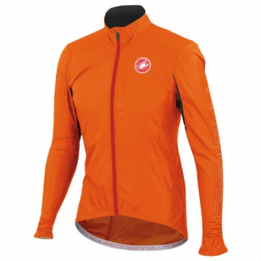 Castelli Velo jacket orange-fluo mens 14026-036