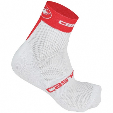 Castelli Free 6 sock white/red mens 14033-231 2015