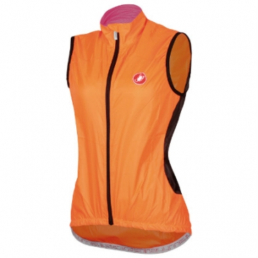 Castelli Velo W cycling vest orange-fluo women 14065-036