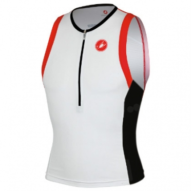 Castelli Free tri top white mens 13024-101