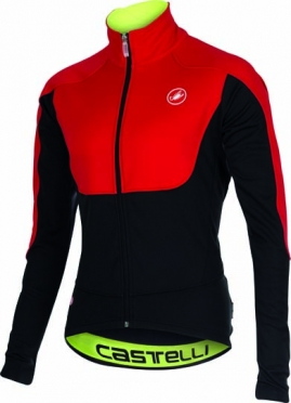 Castelli Passo giau jacket red/black mens 15521-023