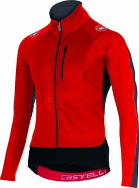 Castelli Trasparente 3 wind jersey FZ red/black/anthracite mens 15525-231