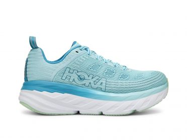 Hoka One One Bondi 6 running shoes light blue women