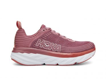 Hoka One One Bondi 6 running shoes pink women