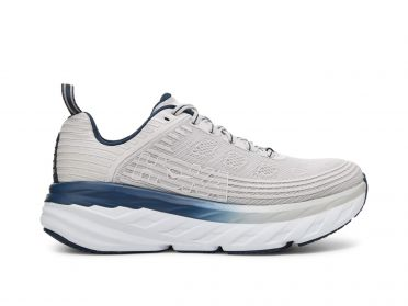 Hoka One One Bondi 6 wide running shoes grey/blue women