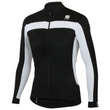 Sportful Pista long sleeve cycling jersey black men