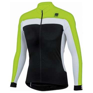 Sportful Pista long sleeve cycling jersey black/yellow men