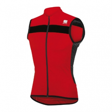 Sportful pista sleeveless cycling jersey red/black men