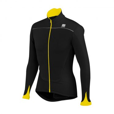 Sportful Force Thermal Jersey black-yellow men 01276-091