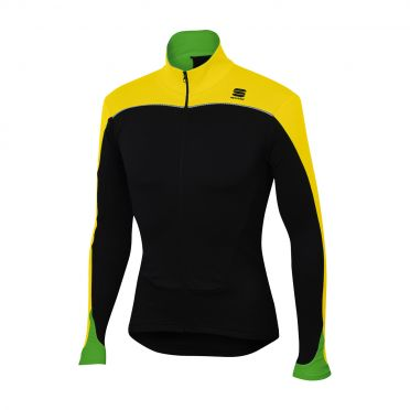 Sportful Force thermal long sleeve jersey black/yellow fluo men