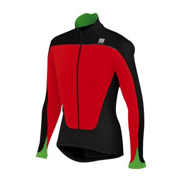 Sportful Force thermal long sleeve jersey red/black men