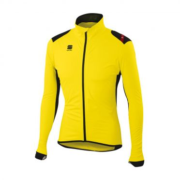 Sportful Hotpack Norain Jacket yellow-black men 01337-091