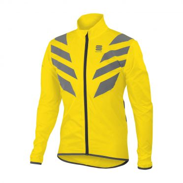 Sportful Reflex long sleeve jacket yellow fluo men
