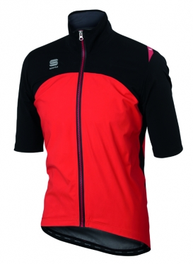 Sportful Fiandre windstopper LRR jacket short sleeve black/red men