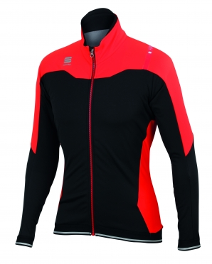 Sportful Fiandre No-Rain Jacket black/red men