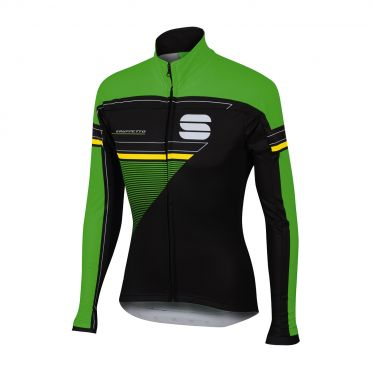 Sportful Gruppetto partial WS jacket black/green men