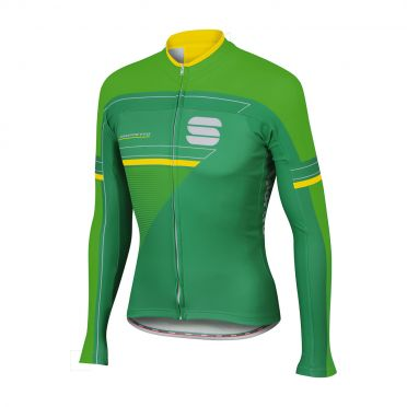 Sportful Gruppetto thermal jersey green/yellow men