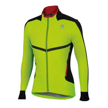Sportful Pordoi windstopper jacket yellow fluo men