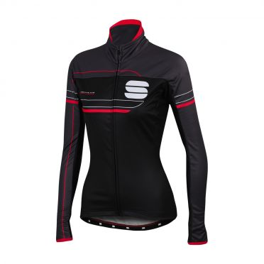 Sportful Grupetto pro W long sleeve jacket black/anthracite women