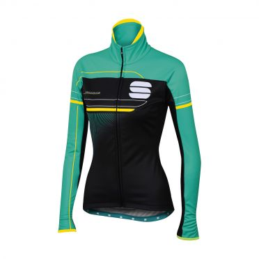 Sportful Grupetto pro W long sleeve jacket black/turquoise women