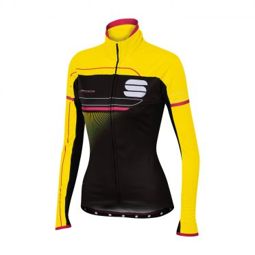Sportful Grupetto pro W long sleeve jacket black/yellow fluo women