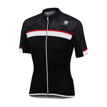 Sportful SF pista jersey short sleeve black/white men