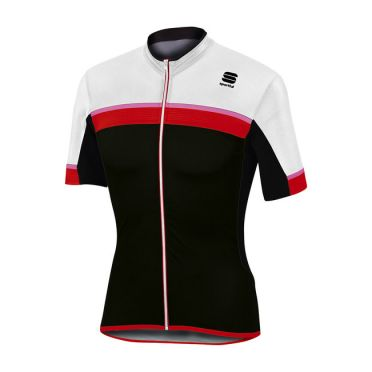 Sportful SF pista jersey short sleeve white/black men