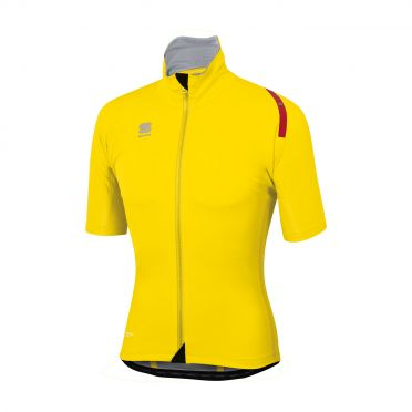 Sportful Fiandre extreme short sleeve jacket yellow fluo men