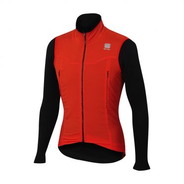 Sportful R&D strato long sleeve jacket red/black men