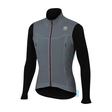 Sportful R&D strato long sleeve jacket gray/black men