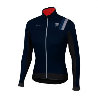 Sportful Bodyfit pro thermal long sleeve jacket black/blue men