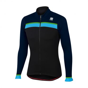 Sportful Pista thermal jersey black/blue men