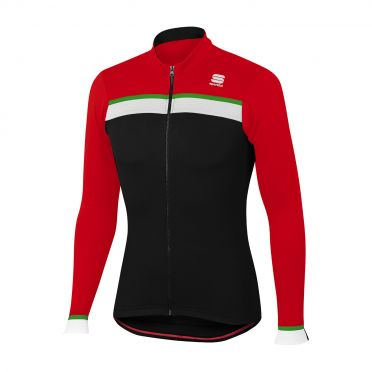 Sportful Pista thermal jersey black/red men