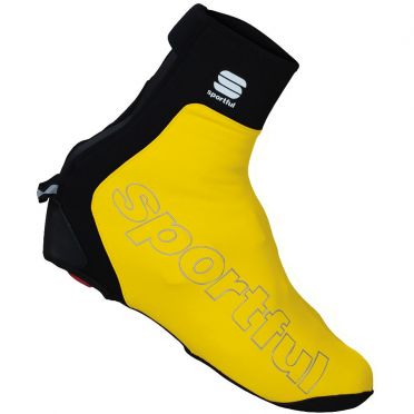Sportful Roubaix thermal shoecover yellow fluo men
