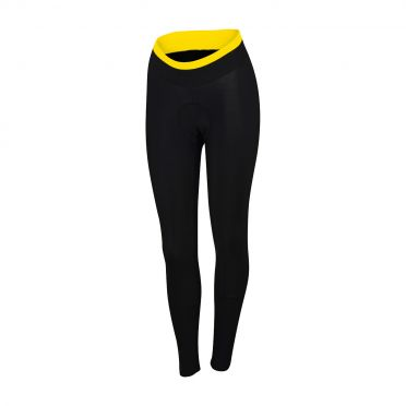 Sportful Luna thermal tight black/yellow fluo women