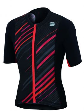 Sportful R&D celsius jersey black/anthracite/red men