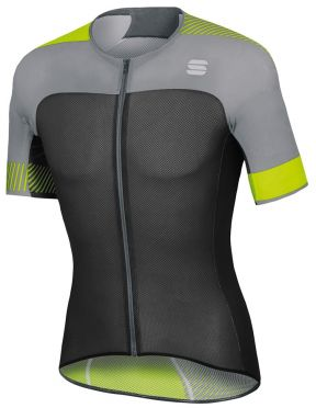 Sportful Bodyfit pro light jersey black/yellow fluo men