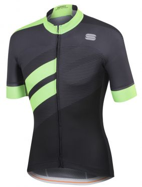 Sportful Bodyfit team jersey black/green men