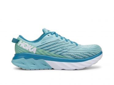 Hoka One One Arahi 4  wide running shoes light blue women
