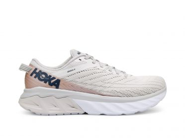 Hoka One One Arahi 4 running shoes white/pink women