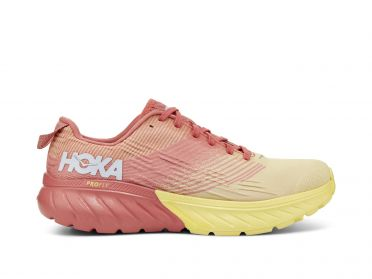 Hoka One One Mach 3 running shoes pink/yellow women