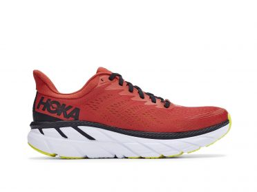Hoka One One Clifton 7 running shoes red men