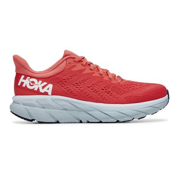 Hoka One One Clifton 7 running shoes red woman